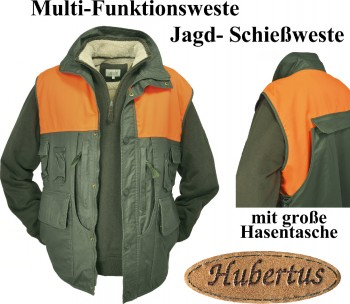 676529-380- Multi-Funktionsweste Jagdweste Schieß + Signalweste Wachs finished