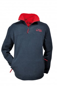 warmes Fleece SWEATSHIRT Brigg anti-pilling Unisex blau/rot
